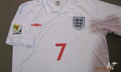 England Soccer Jersey, BECKHAM 7, South Africa World