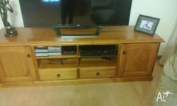 Timber Entertainment Unit See picture - owner