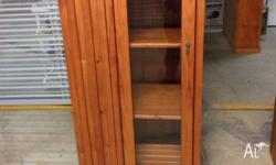 3 piece entertainment unit. Towers have glass doors and