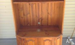 157cm high, 55cm deep, 90cm wide. 2 door cupboard at