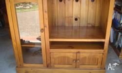 Billy Tea Timber Entertainment Unit in good condition.