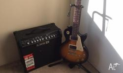 Selling my epiphone lespaul and line 6 amp, guitar is