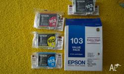 EPSON 103 VALUE PACK GENUINE EXTRA HIGH CAPACITY 4 INK