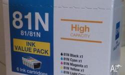 Nine brand new genuine Epson 81/81N high capacity ink