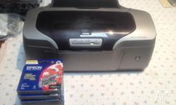 EPSON STYLUS R800 Inkjet printer and ink 8 cartridge