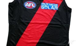 ESSENDON OFFICIAL ADULT SLEEVELESS HOME GUERNSEY. -