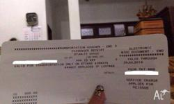 For sale is Etihad Airways flight voucher each worth