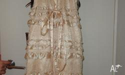 ? Elegant Champagne coloured floor length gown ?