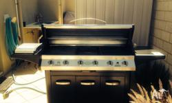 Everdure 6 burner with wok element. rotisserie used