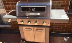 Everdure Neo Gas BBQ. 4 burner with additional side