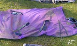 Purple synthetic Everest paddock Rug 6'6. Needs a