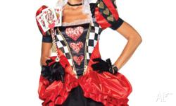 Brand New 2 pc. Evil red queen costume, Includes