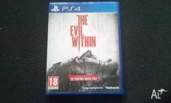 up for sale is a PS4 version of Evil Within, i am