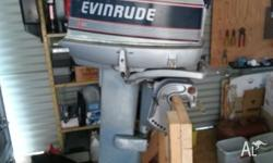 30 HP vinrude outboard. Not sure if it's running or