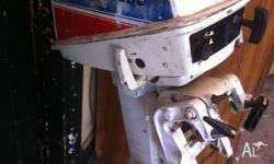 evinrude 7.5 hp outboard motor complete & working