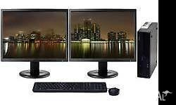DUAL SCREEN FAST CORE 2 COMPUTER FOR JUST $450!! DO YOU