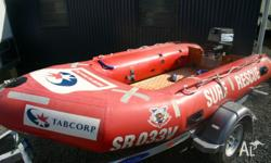 Ex-surf rescue IRB with 25HP motor, TRAILER NOT
