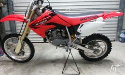 Excellent condition Honda cr85 Never raced Extras