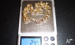 This is a GENUINE 9ct solid gold bracelet, this is NOT