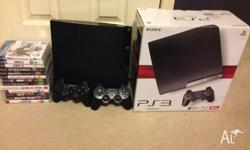 Selling PS3 console 120GB with 2 PS3 controllers with