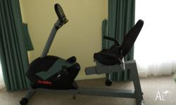 For sale, a recumbant exercise bike with heart