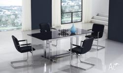 Extendable Glass Dining table (option: 4chairs or