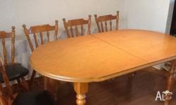 Extendable table in ok/good condition.. Few scratches