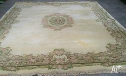 Handwoven French carpet traditional design