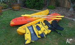 For sale: 2 used Extreme kayaks with handles, side