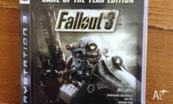 Just selling my game Fallout 3 for the PS3. This is the