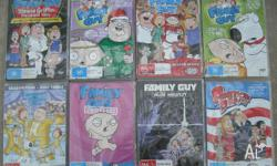 Family Guy and American Dad DVDs, refer to photos for a