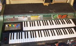 Rare old 70's Farfisa double-keyboard,top of the range