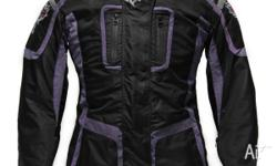 Ladies Motorcycle Jacket in a variety of color combos.