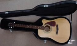 here i have a fender brand acoustic/electric guitar up