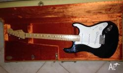 Good condition, American made Blackie Stratocaster.