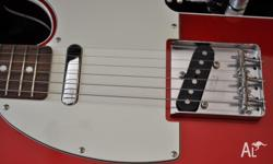 Japanese Fender Telecaster for sale, candy apple red in