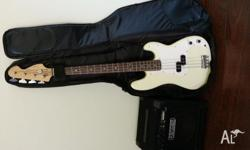 Fender Squier Affinity P-Bass - off white - good