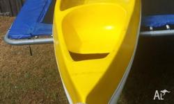 Fibreglass Canoe 4 mtr long, 800mm wide 2 seats plus