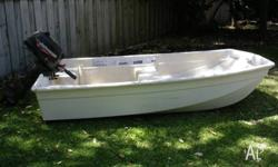 2.6mtr tri hull fibreglass dinghy in good condition.