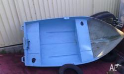 Dingy with 2hp johnson outboard good river boat or