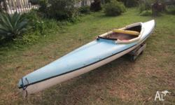 Selling a old style 2 seat kayak. It's been shortened