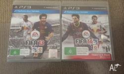 For sale is the FIFA PS3 game years 2012 and 2013
