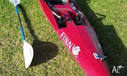 For sale is a 4.2m Finn Affinnity Kayak. Kayak is