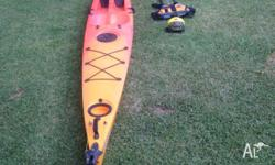 Complete Avon descent Kayak and Safety equipment. Finn