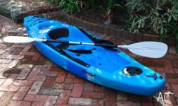 Finn Gizmo 2.7 metre kayak with Tyronsea paddle. A very