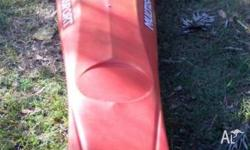 Finn Multi sport Kayak Flame red Near new Bought August