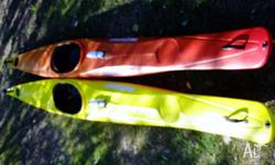 Finn Multi sport Kayak Yellow As new Bought August 2014