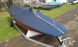 Delange foam sandwich hull with timber deck Comes with