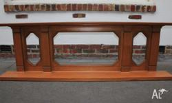 CRAFTSMAN MADE TIMBER OVER MANTLE 1930's PERIOD