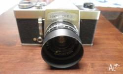 this camera was built in 1958, it comes with a 45mm